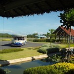 Del av den charmiga flygplatsen i Koh Samui