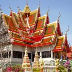 Ett av alla tempel i Koh Samui
