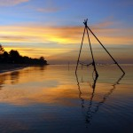 Vacker solnedgang i Koh Samui